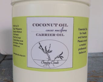 Organic Coconut Oil - Virgin - 500g 1lb One Pound Coconut Oil Soap Making