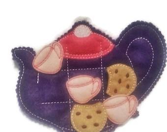 SALE Tea party  tic tac toe game  ECO Friendly Felt Tic Tac Toe Mat #3913