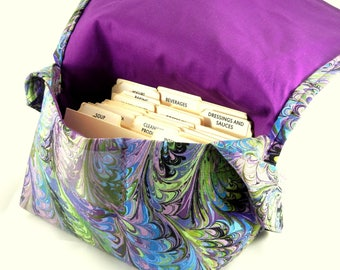 Large Coupon Organizer, Coupon Binder, Coupon Holder, Coupon Purse, Marbled Purple Fabric