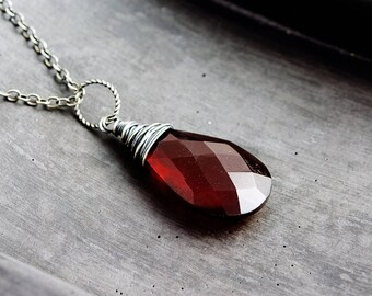 Chalcedony Necklace, Wire Wrapped, Rust Red, Burnt Orange, Chalcedony Pendant, Sterling Silver, Gemstone Necklace, Gemstone Pendant