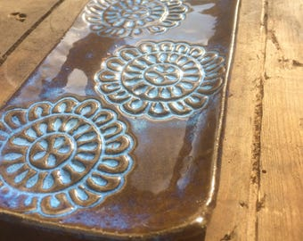 Mandala Pattern Ceramic Serving Plate