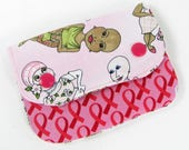 Cancer awareness wallet, credit card holder, womans wallet, travel wallet, small wallet, minimalist wallet, kids wallet, credit card case,