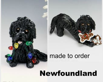 Newfoundland Made to Order Christmas Ornament Figurine in Porcelain