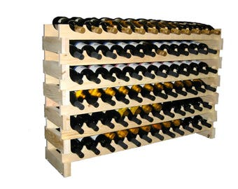 48 Bottle Stackable Wine Rack--6 Bottles Wide x 8 Rows High