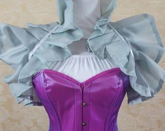SALE Mauve Purple Silver Tie On Shrug