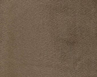 Super Soft COCOA BROWN Washable Velvet Fabric Multipurpose UPHOLSTERY Apparel Home Decor
