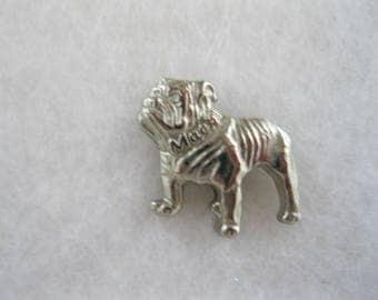 PAIR of Mack Trucks Bulldog lapel, hat or tie pin.  2 Shades of silver.