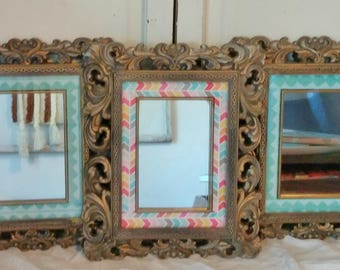 Vintage Upcycled Rococo Mirrors | Set of 3