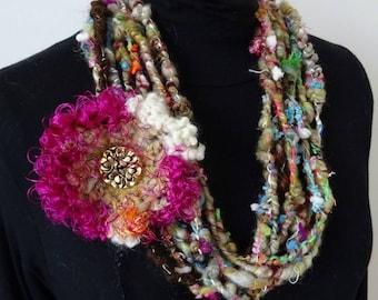 Très Chic : necklace art yarn