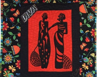 Summer sale A Woman of Sophisticated Substance #10 art quilt