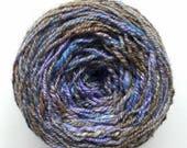 Hand Dyed Hand Spun Yarn Destash Purple Blue Yarn