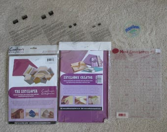 Envelobox Creator and The Enveloper from Crafter's Companion with Six Plastic Envelope Making Templates