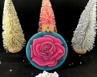 Handmade Rose Ornament