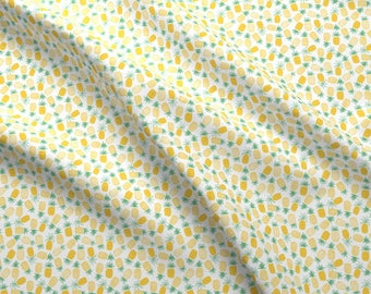 Tropical Pineapple Fabric By The Yard Geometric Pineapples