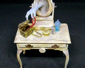 Collector Miniature 1:12 Haunted DRESSING TABLE, the Ghost steals! OOAK