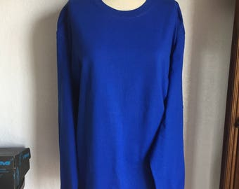 2XL, 3XL Post surgery and Rehab Long sleeve unisex T-shirts,for after shoulder surgery,recovery and Physical Therapy. In Royal Blue