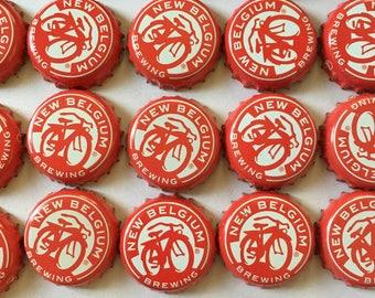 Lot of 50 New Belgium beer caps