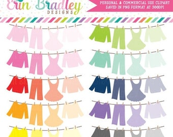 50% OFF SALE Ombre Laundry Line Clip Art Graphics Clothing Line Bunting Personal & Commercial Use OK