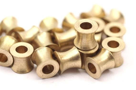 Mm industrial beads raw brass tubes