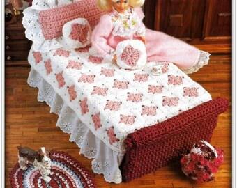 Barbie Doll Bedroom Set Crochet Pattern - PDF CR836714