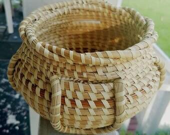 Gullah Sweetgrass Basket Vase