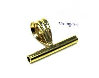 Brooch Converter Small 12mm Gold Filled Horizontal