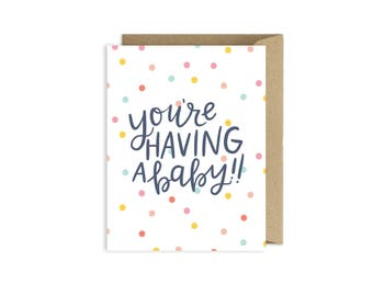 New Baby Pregnancy Card - Congraulations Card - Having a Baby Card