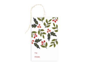 Floral Christmas Gift Tags
