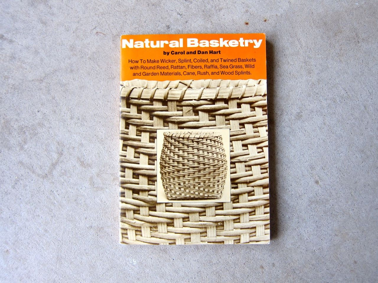 Basket Weaving Books Free : Natural basketry book crafty softcover black white