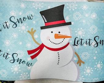 Let it snow door mat- LIMITED