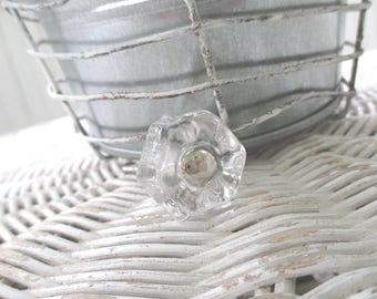 Clear Glass Pulls * Cabinet Knobs * Vintage Style Hardware