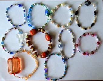 10 Handmade Bracelets Lot #4