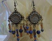 Boho, Hippie, Southwest Dangle Earrings, Beaded Earrings