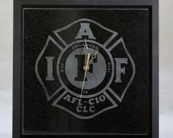 Absolute Black Granite Framed Clock.