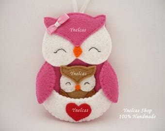 Felt Owl Canada Christmas Ornament  Canada Flag Owl