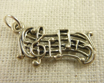 Vintage Sterling Musical Notes Charm