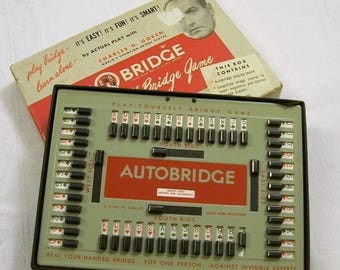Vintage AutoBridge, Play By Yourself Bridge Game, 1950 Games, Charles Goren Contract Bridge