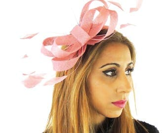 Dusky Pink Fascinator Kentucky Derby or Wedding Hat **SAMPLE SALE