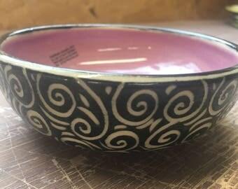 Swirl Purple Small Bowl