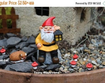 """Save25% Miniature gnomes-Yoga Girl-Teeny Tiny Garden gnome-Wee fairy garden gnomes-6 colors to choose from-1/2"""" without post"""