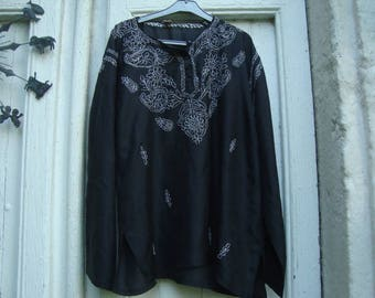 Vintage indian silk top from 60s
