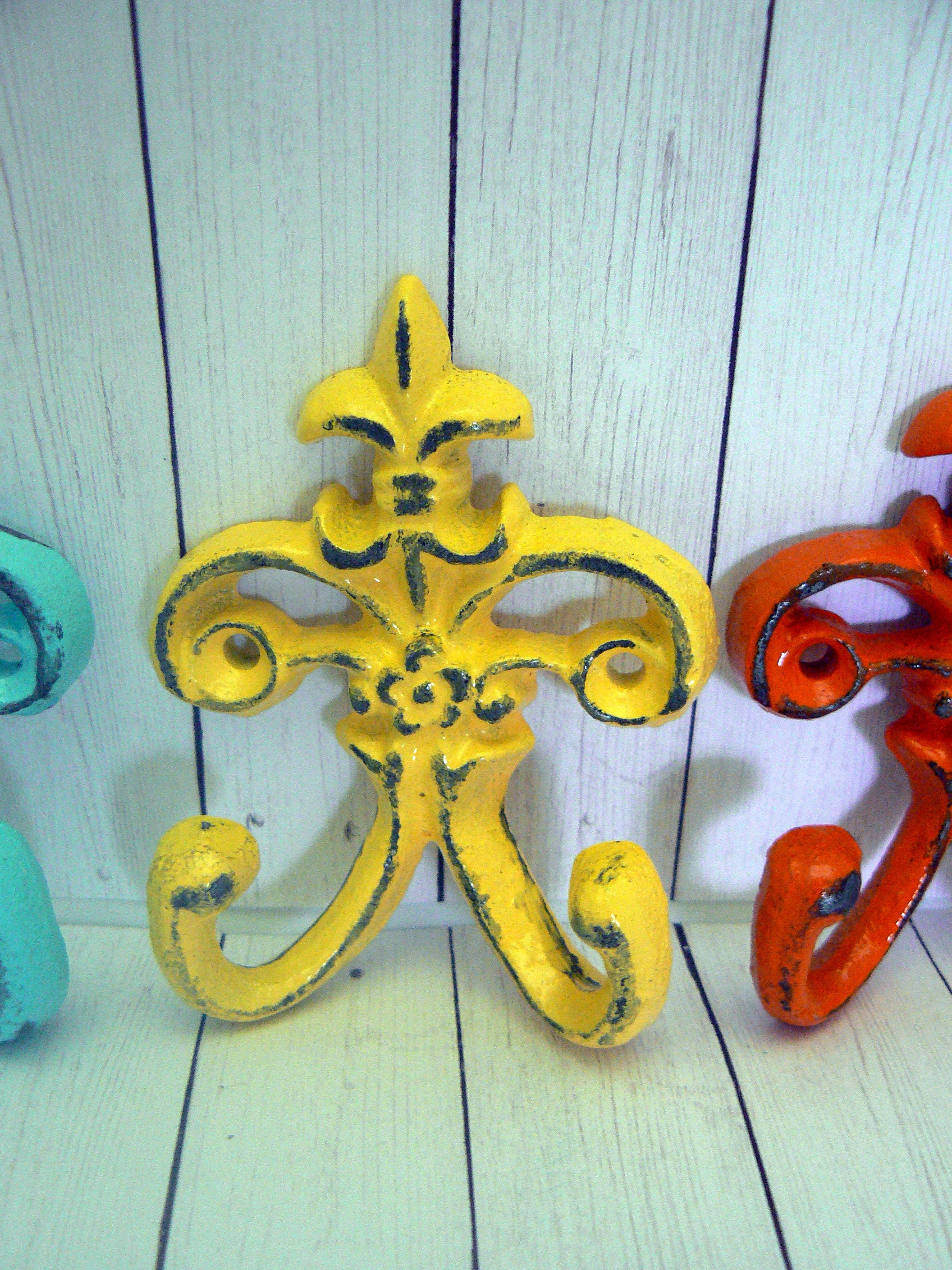 Old Fashioned Metal Fleur De Lis Wall Decor Embellishment - The Wall ...