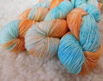 Hot N Cold Hand Dyed Sock Yarn