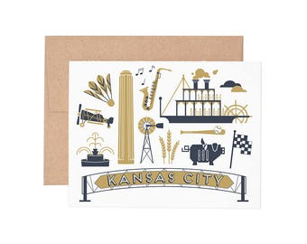 Boxed Cards - Kansas City Letterpress Greeting Cards - Boxed Set | Blank Cards | All Occassion