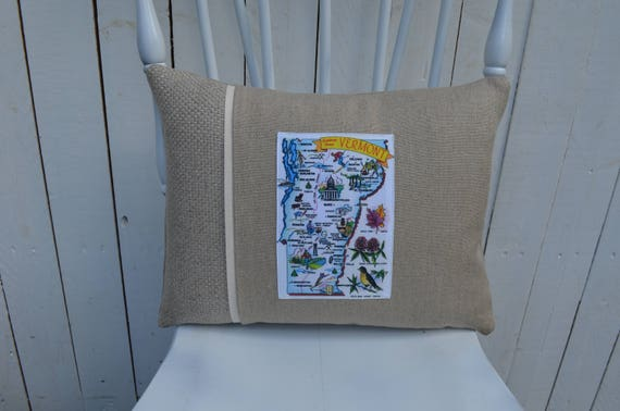 Vermont Postcard Pillow (3 different styles and 2 different prices)