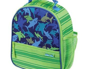 Personalized Stephen Joseph All Over Print Shark Lunchbox