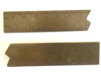 Brass Ruler Pins