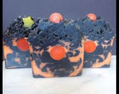 Once Upon An Autumn Moon - Handmade Soap - Artisan Bar Soap - Marshmallow Bonfire Scent - With Silk!