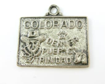 Vintage Colorado State Sterling Silver Charm