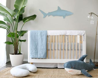 Luxe french connection // Crib Bumper // Bumperless // Teething Rail Guard // Linen
